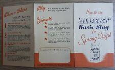 Vintage Albert Basic Slag Advertising card/leaflet Agricultural Ephemera c1960s?