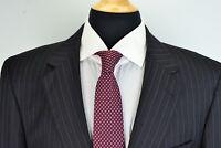 Jos A Bank Signature Gold Gordon Charcoal Pinstriped Wool 2 Piece Suit Sz 42L