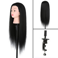 Salon Hairdressing Training Head Real Human Hair Long Mannequin Doll + Clamp