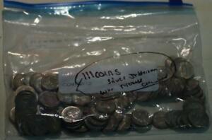 111-Circulated U.S. Silver Jefferson War Nickels
