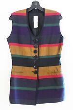 GIANFRANCO FERRE STUDIO Sleeveless Cotton Silk Women Blouse Top Shirt, Italy, 6