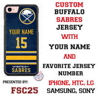 Buffalo Sabres Personalized Hockey Jersey Phone Case Cover for iPhone etc.