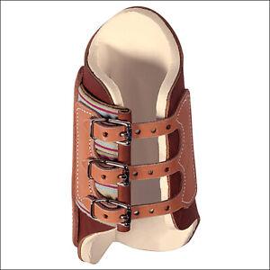 Weaver Harness Leather Horse Leg Splint Rubber Boots Medium Pair Brown U-3-MD
