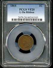 1864 L on Ribbon 1C Indian Head Cent VF20 PCGS 40241543