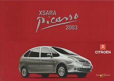 CITROEN Xsara Picasso CAR (Made in Brazil) _ 2002 prospetto/Brochure