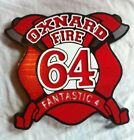 Fire Department Oxnard 64 3D routed wood patch plaque sign Custom Carved