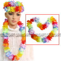 10X Hawaiian Beach Necklace Leis 96cm Lei Flower Decorations Crafts Luau Party
