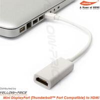 Mini DisplayPort / Thunderbolt to HDMI Adapter cable VIDEO + AUDIO converter