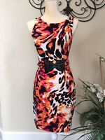 NWT Cache Animal Print Dress Sz 4