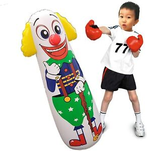 Jet Creations Inflatable Clown Punching Bag Figure 42 inch Party Toy
