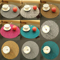 Hollow Non-slip EVA Round Insulation Kids Bowl Mat Placemat Table Protector Pad