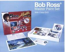 BOB ROSS MASTER OIL PAINTING KIT, PAINT, BRUSHES, KNIFE, DVD MAKES A GREAT GIFT