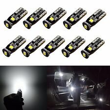 JDM ASTAR 10pc 194 168 175 2825 T10 White LED Interior Dome License Bulb Bright
