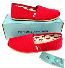 Toms Men's Classic Canvas Red Slip-on Shoe - 8.5 B(M) US