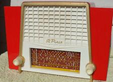 Red plastic valve radio STC Pixie 1950s