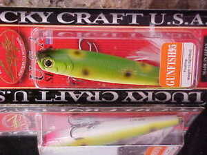 """(1) NIP 4"""" LUCKY CRAFT LUCKY CRAFT GUNFISH 95 - 289 in Frog Topwater for Bass"""