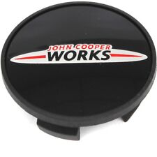 Genuine Mini Black Hub Cap With JCW Logo 54 mm PN: 36136778917 UK