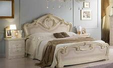 Klassisches Doppelbett Beige-Rose Hochglanz 160x200 Stilmöbel aus Italien