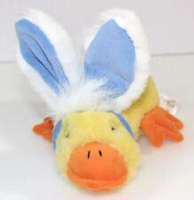 Plush Yellow Duck with Bunny Rabbit Ears & Tail Dan Dee Easter Costume Stuffed