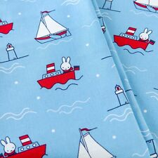 The Craft Cotton Co 1m Fabric - Miffy , Yacht