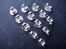 'QQice' 925 Sterling Silver-Earring Backs-For Stud earrings-6 Pairs