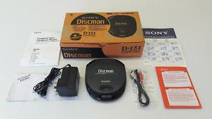 Vintage SONY D-151 Discman Portable Compact CD Player Retro 1990s Walkman
