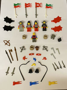 Lego Vintage Castle Knights Weapons Helmets Plume Job Lot Mini Figures Spares