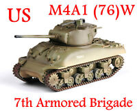 Easy Model 1/72 U.S Army M4A1(76)W Sherman Tank 7th Armored Brigade #36249