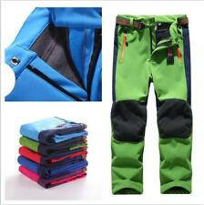 Kid Child Winter Fleece Pants Boy Girl Waterproof Hiking Outdoor Warm Trousers