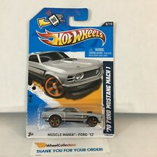 '70 Ford Mustang Mach 1 #118 * Toys R Us Silver * 2012 Hot Wheels * C9