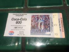1991 Coca Cola 600 Ticket Stub Victory By Davey Allison   Nascar Legend