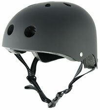 NEW STEALTH HELMET BLACK - SCOOTER INLINE ROLLER SKATE SKATEBOARD BMX - 3 SIZES