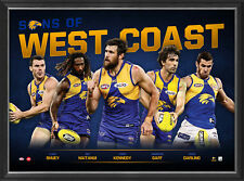 Sons of West Coast Eagles 2018 Limited Edition Official AFL Print Framed Kennedy