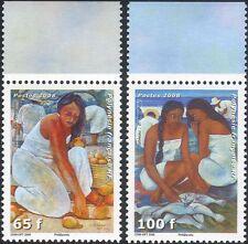 French Polynesia 2008 Polynesian Women/Art/Painting/Woman/Fruit/Fish 2v (n45843)