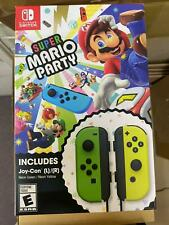 NEW Switch Super Mario Party + Green & Yellow Joy-Con Controller (US ENG Bundle)