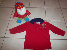 Christmas - Rudolph the Red Nose Reindeer 1/2 Zip Fleece 3T + Holiday Plush New