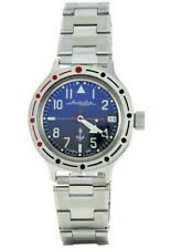 Vostok Amphibian 420957 Military Russian Watch Marines Naval Infantry Auto Blue