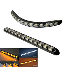 2x 12LED Daytime Car Driving Light Sequential Effect Indicator Lamp White Amber