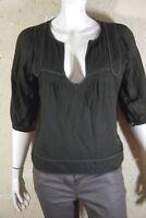 IRO Taille  42  Superbe pull femme marron très foncé doublé en laine pullover
