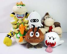 Set of 6 Super Mario Bros Koopa Goomba Blooper Boo Ghost King Hong Plush Toys