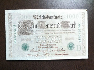 1910 GERMAN 1000 MARK BANK NOTE.