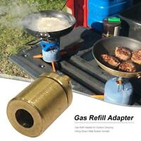 Gas Refill Adapter for Outdoor Camping Hiking Stove Tank Inflate Butane Can h4d