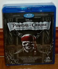 FOUR PIRATAS DEL CARIBE COLLECTION 4 MOVIES BLU-RAY NEW SEALED R2