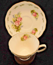 Vintage Royal Vale Ridgeway Potteries Pink Roses Cup and Saucer Set