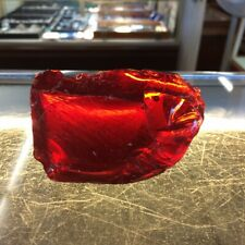 Blood Red 5.4 Oz Glass Slag Cullet Rock Aquarium Sorcerer Stone FREE SHIPPING