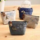 Women Hot Coin Bag Case Key Card Clutch Zipper Canvas Pouch Handbag Purse Wallet
