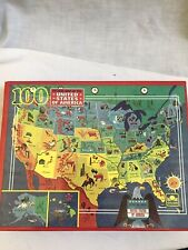 Golden 100 piece puzzle picture map of the United States of America ages 5-10