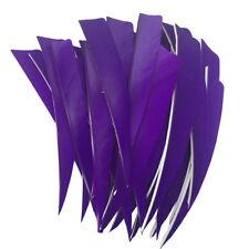 "Archery Fletches 5"" Shield Cut Purple Traditional Feather Fletchings RW - 50PCS"