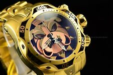 Invicta 52mm Reserve Venom BullDog Swiss Chronograph Gold Plated Bracelet Watch