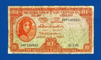 10 SCELLINI IRLANDA LADY LAVERY - 25/5/1966 -  BANCONOTA